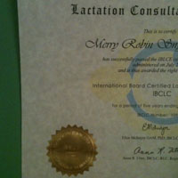 Certificate for IBCLC
