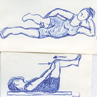 two exercises for core muscles